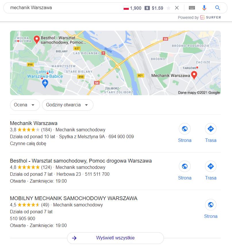 Pozycjonowanie lokalne vs ogólnopolskie
