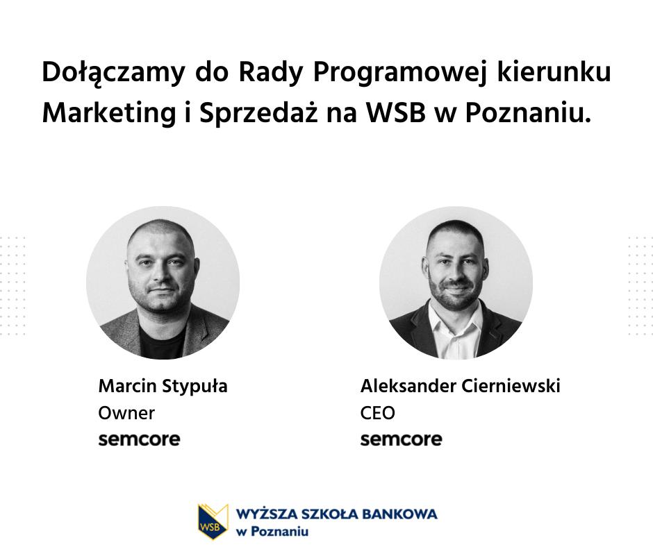 Dołączamy do Rady Programowej na WSB w Poznaniu